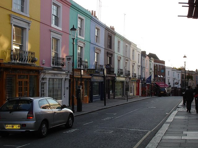 Those rainbow houses in Portobello Road, London