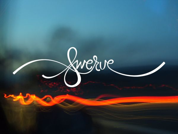 """Swerve"" Hand Lettered Typography by Connor Cliche, via Behance"