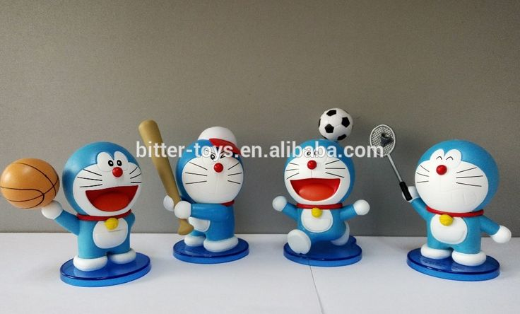 doraemon figure toy/Hot Sale Mini Cartoon PVC Toys Doraemon Figure Free Cartoon Movie