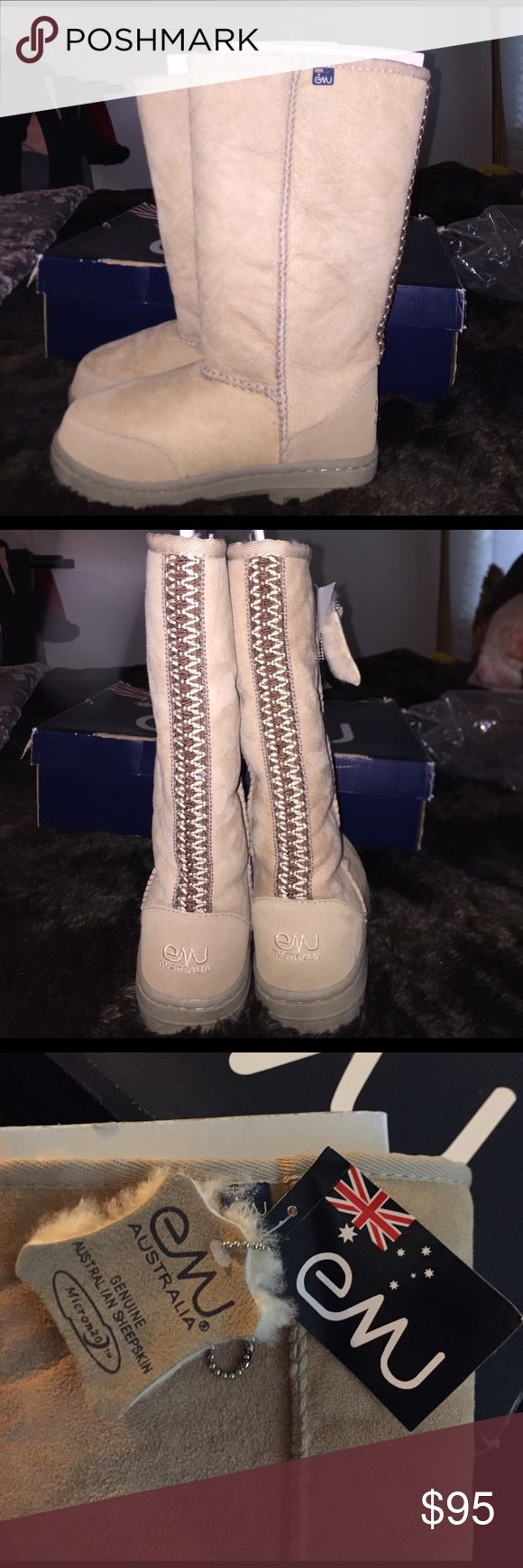 NEW EMU Australia Genuine Sheepskin Boots  Authentic EMU sheepskin boots. Brand new They are super warm and cute :) THEY ARE SIZE 7 IN WOMENS AND SIZE 5 IN MENS. Emu Shoes Winter & Rain Boots
