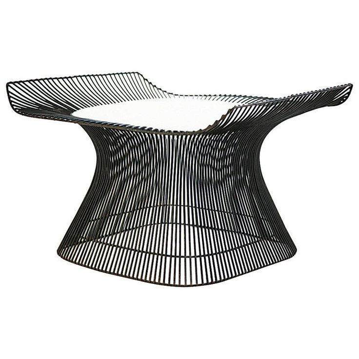 Rare Warren Platner Ottoman Prototype For Sale at 1stdibs