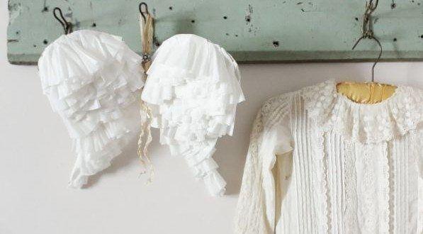 Faça asas de anjo de papel para decorar a sua casa ou para improvisar uma fantasia de anjinho para a