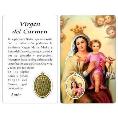 Image result for imagen de la virgen del carmen con oracion