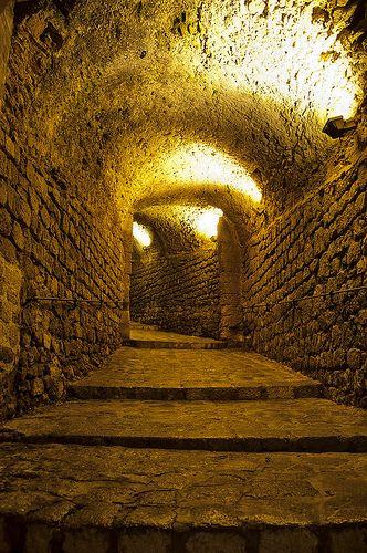 Interior tunel Portal Nou. Dalt Vila (Ibiza)