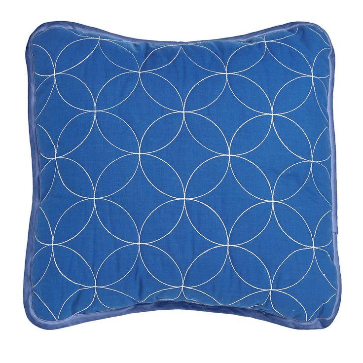 Wilko Quilted Cushion Blue