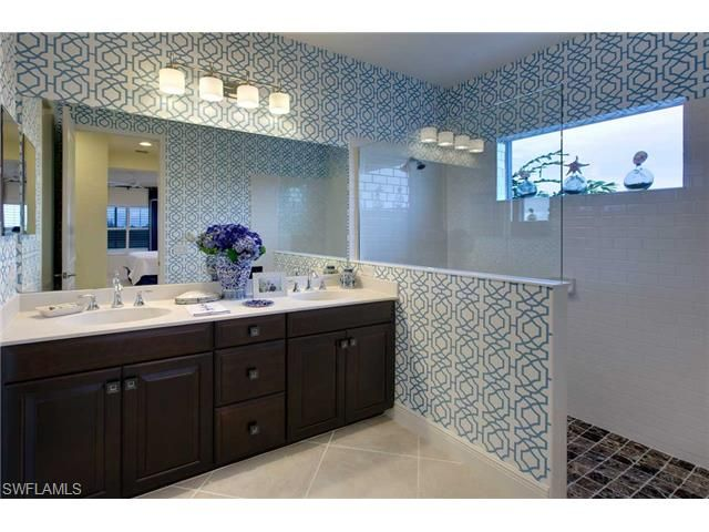 Bold wallpaper choice in this new construction home in Canopy   North Naples Florida & 7 best Canopy   Naples Florida images on Pinterest   Naples ...