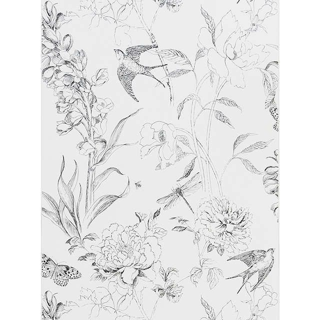 BuyDesigners Guild Jardin des Plantes Sibylla Garden Paste the Wall Wallpaper, Black / White PDG721/01 Online at johnlewis.com