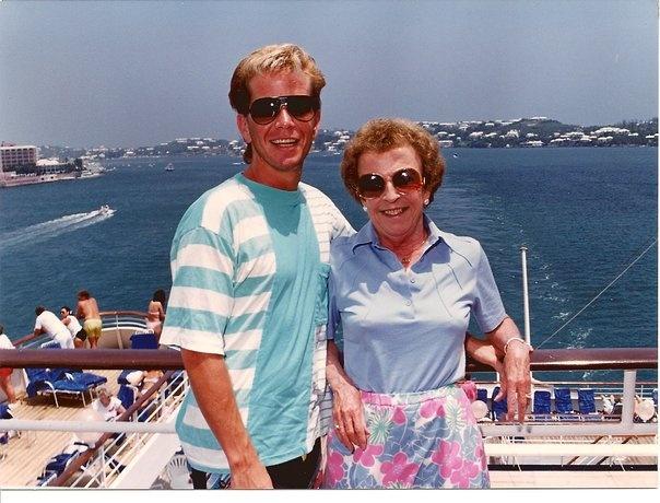Rudy and I cruising Bermuda