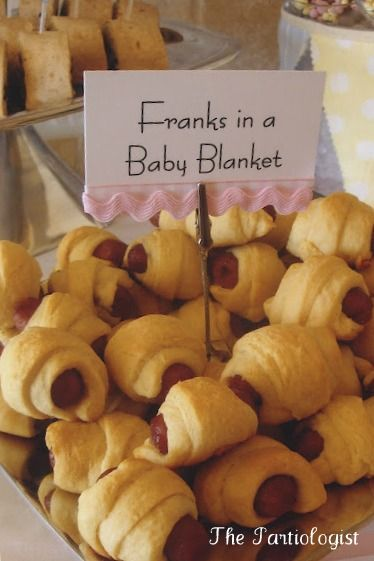 franks in a baby blanket - shower food