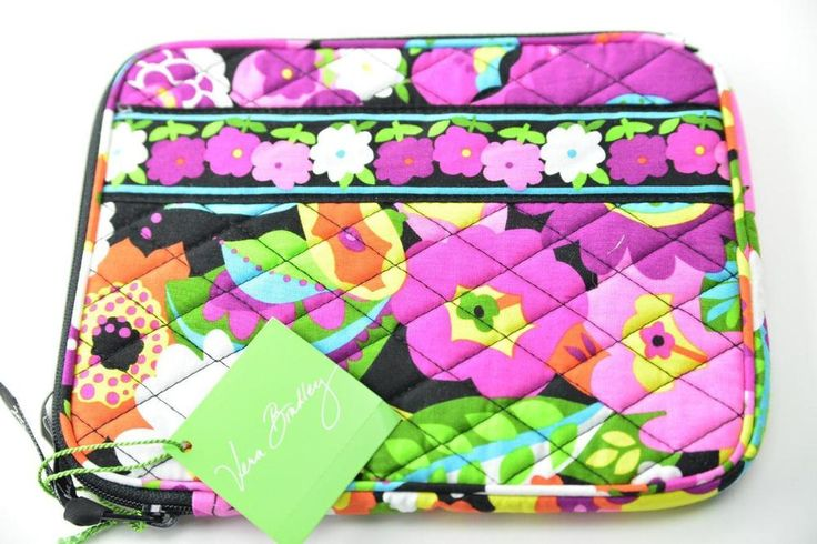 VERA BRADLEY Tablet Sleeve Va Va Boom Quilted Large Ipad Case Cover Pouch RT $38 #VeraBradley