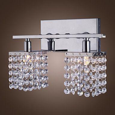 25W G9 Crystal og Metal Væglampe med 2 lys – DKK kr. 545