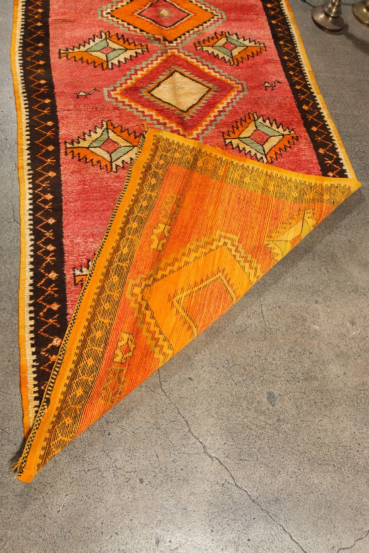 Vintage Moroccan Tribal Rug Runner Matisse Style Rug For