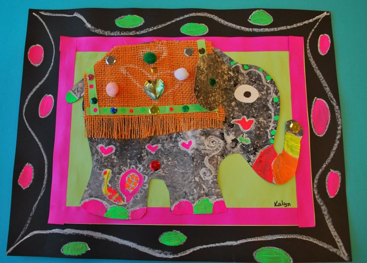 PAINTED PAPER: Festive Elephants of India also connects to 6th grade world history