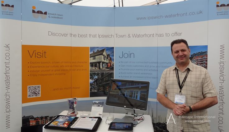 Fantastic 360 degree views of Ipswich taken by Carl Lamb of Ambient Light were being showcased on the Ipswich Waterfront stand.
