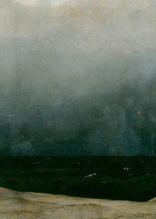 sophistae:    Caspar David Friedrich, Monk by the Sea (detail), ca. 1810 (x)