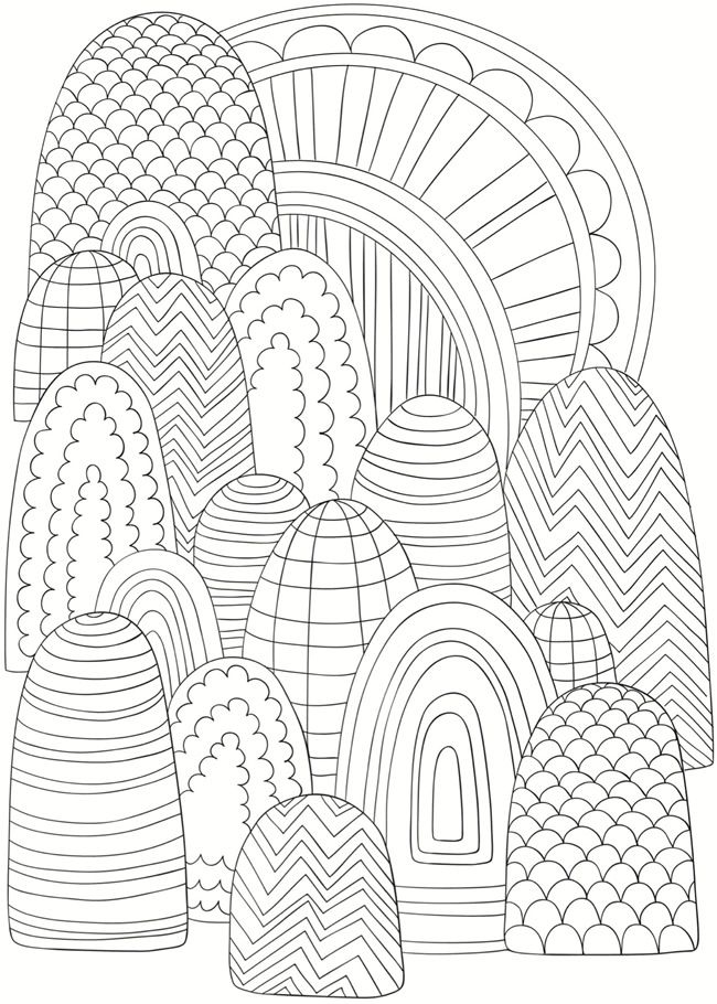 430 best coloring pages images on pinterest - Coloring Pages Abstract Designs