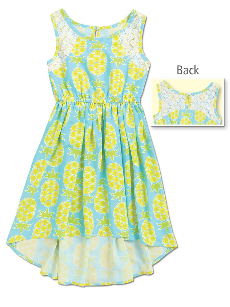 From CWDkids: Pineapple High-Low Dress