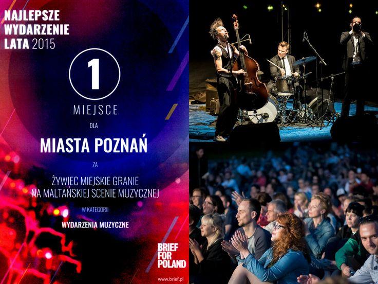 Poznan Poland, Plenerowe koncerty na Maltańskiej Scenie Muzycznej Najlepszym Wydarzeniem Lata 2015!