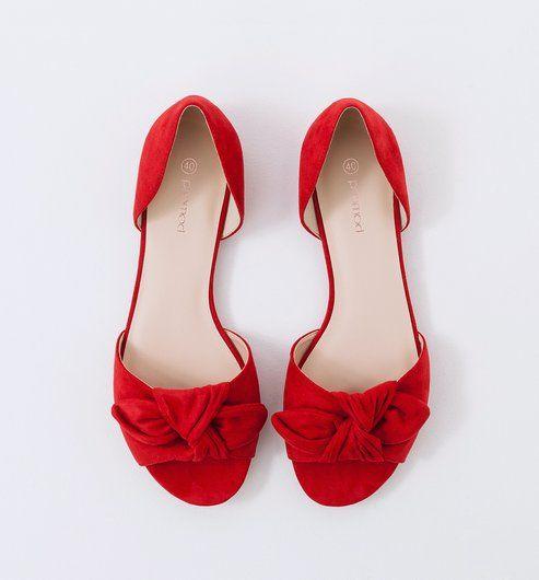 Ballerines ajourées Femme rouge foncé - Promod