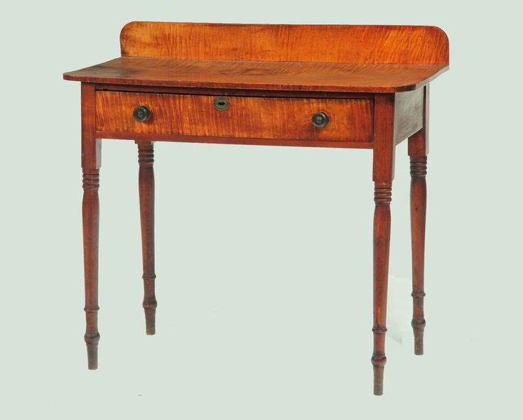 Tiger maple and cherry Sheraton dressing table, 19th C., Garth's Auctions.  Small TablesRefinished FurnitureAntique ... - 28 Best Antiques ~ Sheraton Images On Pinterest Antique Furniture