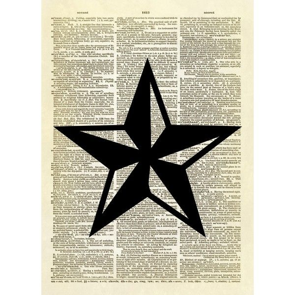 Texas star symbol dictionary art print ($22) ❤ liked on Polyvore featuring home, home decor, wall art, star wall art, texas wall art, star home decor, texas star wall art and texas home decor