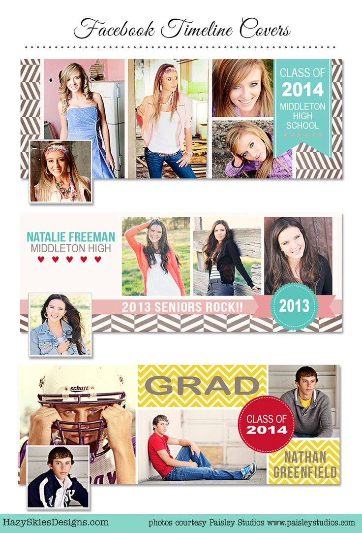 Senior Graduation Facebook Timeline Covers for Photographers     #photography #template #senior #facebook #photographer