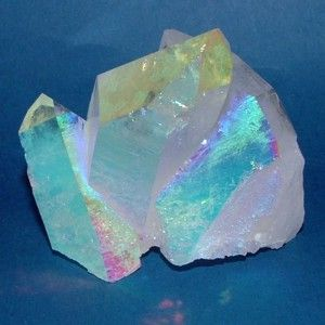 Angel Aura Quartz is an uplifting spiritual stone that invites angel guidance, deep peace during meditation and purification. Angel Aura promotes joy, light & optimism. Angel Aura is used to: Activate the throat chakra Find your personal purpose Channel higher knowledge Reach deeper meditative states Open awareness to the angel domain