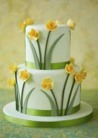 torta con narcisi
