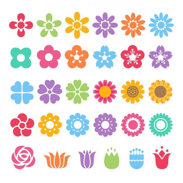 Diferentes iconos de colores Vector Gratis