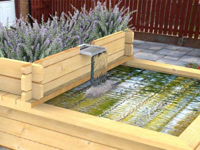 6ft Long Cascade Planter With Water Blade   #raisedpond #fishpond #koi #goldfish #patio #waterfeature #fountain  #watergarden #gardening #landscapedesign #landscaping #gardendesign #aquascaping #pool #pond
