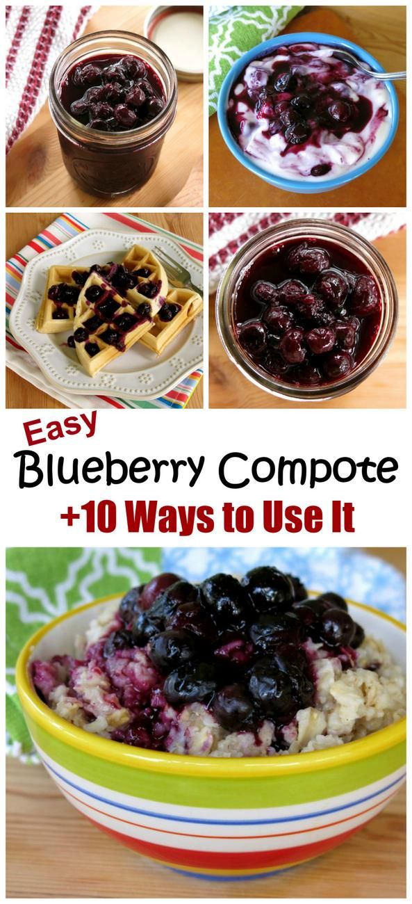 Easy recipe for homemade Blueberry Compote using fresh or frozen berries. Once you have a batch, you'll have at least 10 ways to use it!