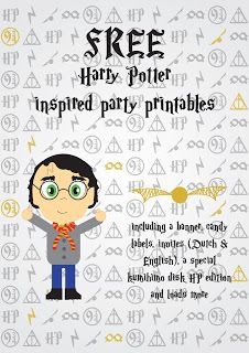 Harry Potter inspired party printables.