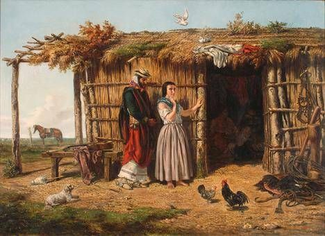 Juan León Pallière (1823-1887): Idilio criollo. Óleo sobre tela, 100x140 cm.