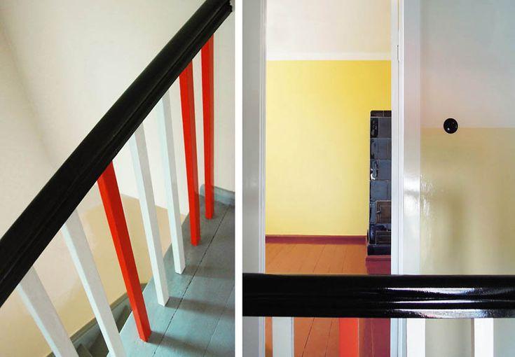 TAUTES HEIM, BERLIN > Wiederhergestellte Original-Farben nach Farbkonzept von Bruno Taut auch im Innenraum