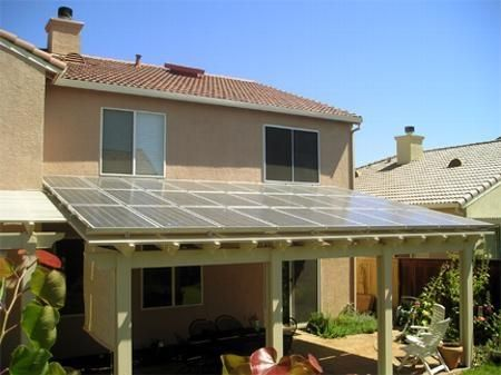 solar panels on patio cover