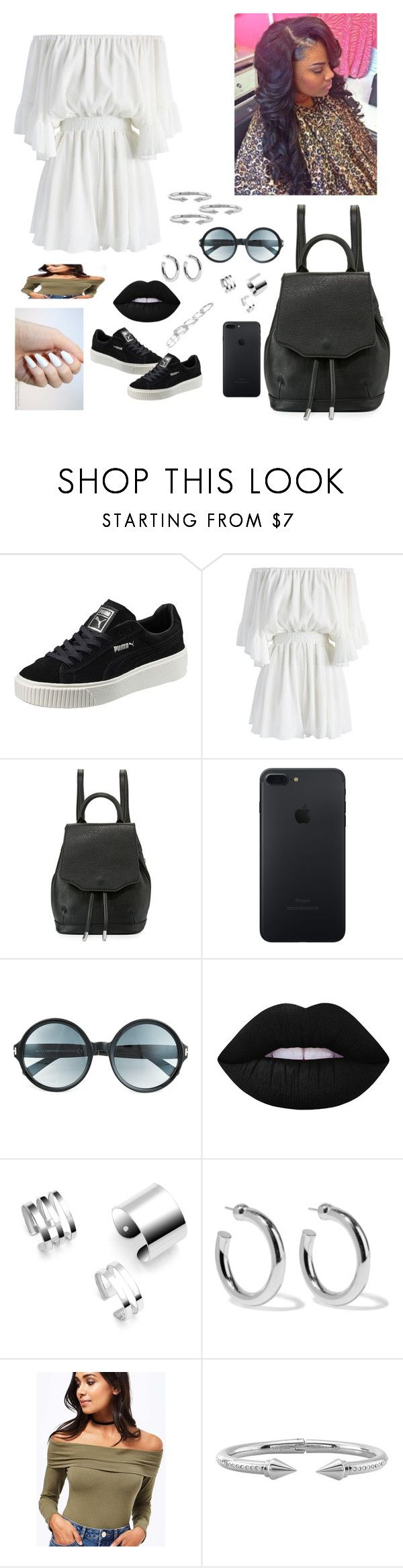 """T.Guide"" by designer-caldo ❤ liked on Polyvore featuring Puma, Chicwish, rag & bone, Tom Ford, Lime Crime, Sophie Buhai, Miss Selfridge, Vita Fede and Kendra Scott"