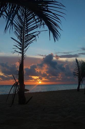 Sunset on Dominican Republic! so pretty! (: