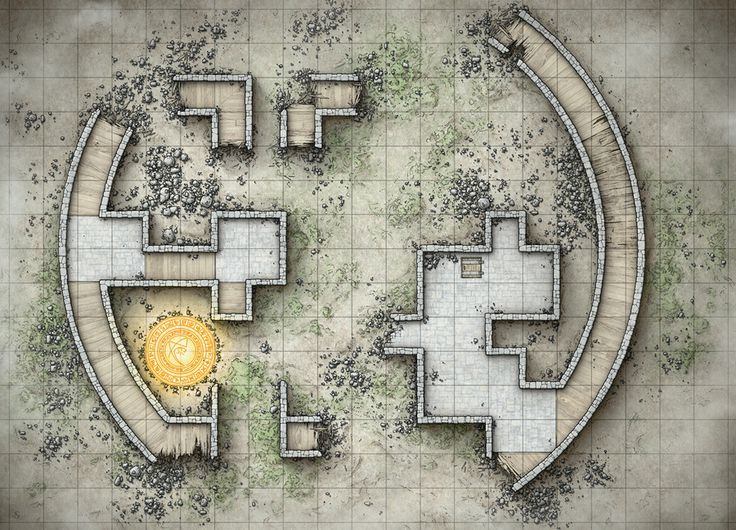 ruins with portal and trap door & 1050 best Tabletop Maps images on Pinterest | Buildings Fantasy map ...