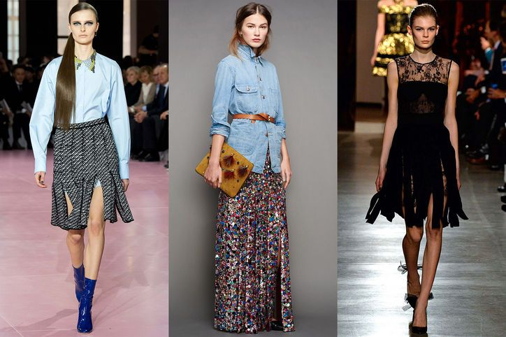 Car Wash Skirts  Think of it as the more polished sister to last season's major fringe trend. Team with a sharp blouse or top to create a refined look.