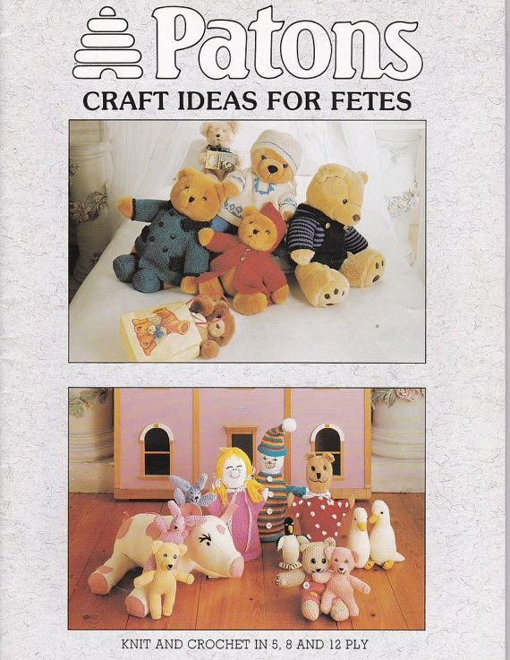 Knitting and Crochet Pattern Book Craft by SuesUpcyclednVintage