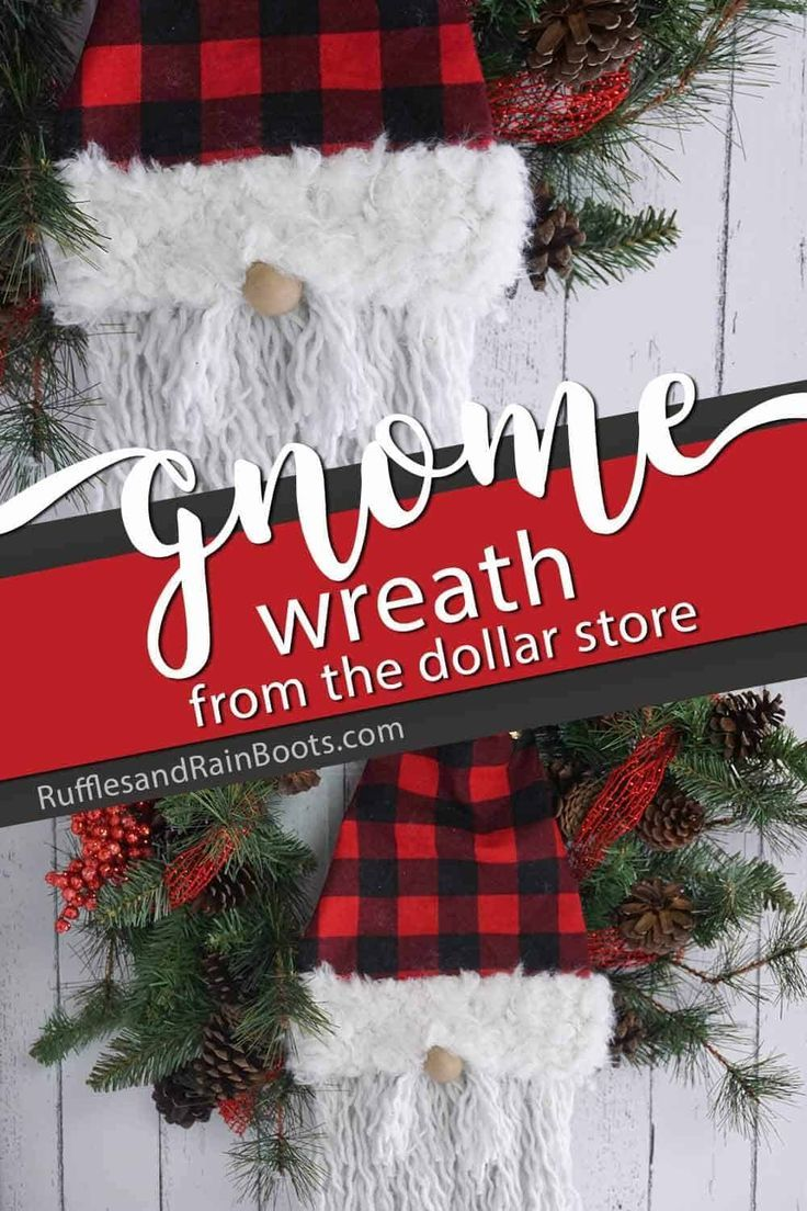 Make This Dollar Store Gnome Wreath in 20 Minutes! (With