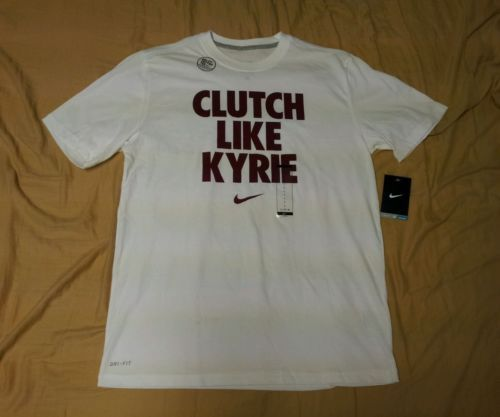 """Nike Men's T-shirt Irving """"CLUTCH LIKE KYRIE"""" sz L Large Cleveland Cavaliers NWT"""