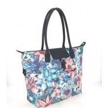Handbag by Hexagona in Blue-face