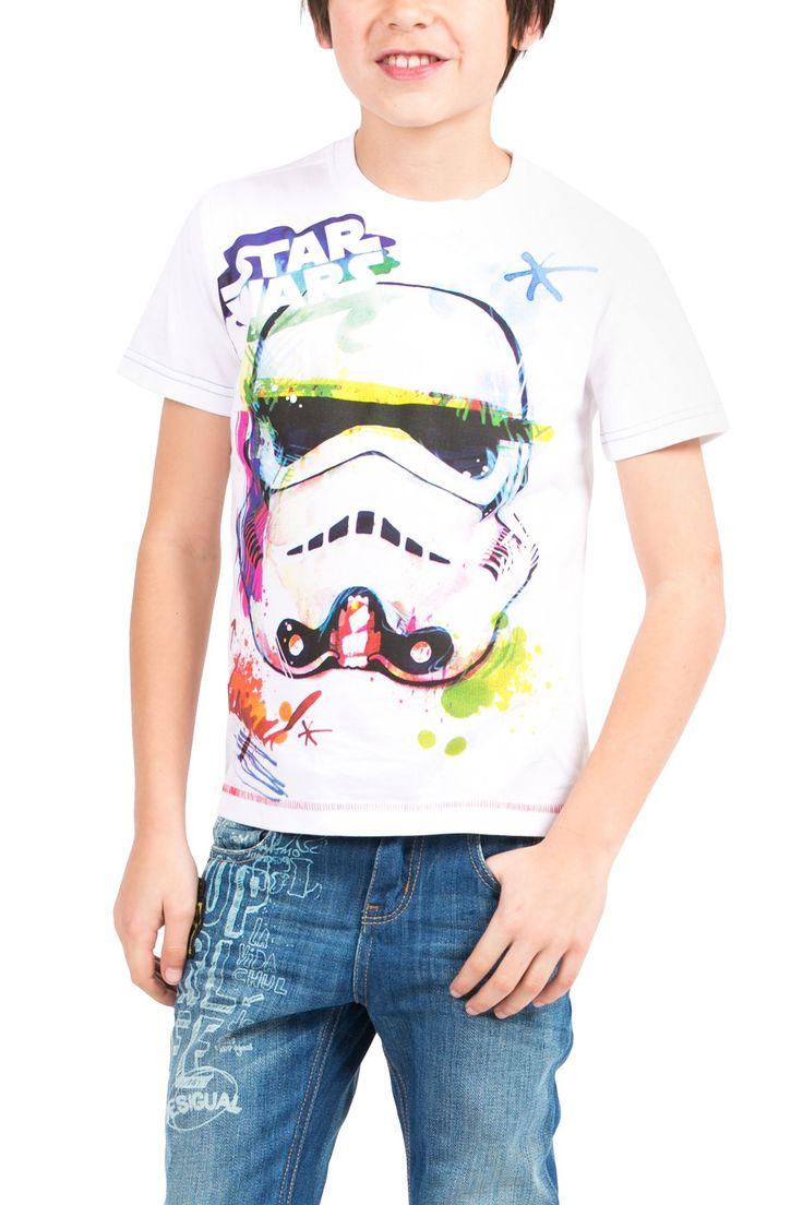 Camiseta de Star Wars blanca   Desigual Rugby