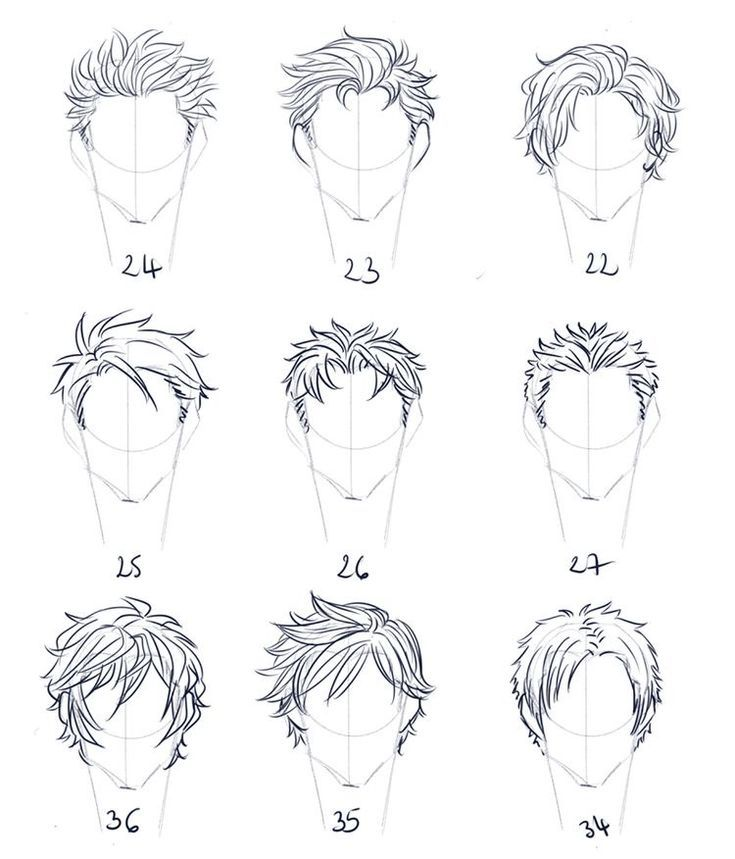 Hairstyle Reference Male Anime Drawings Sketches Anime Drawings Tutorials Drawings