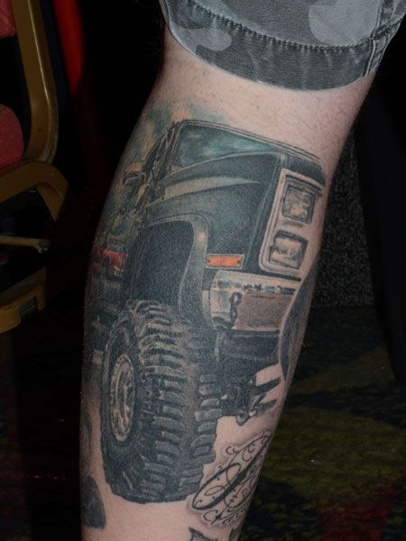 10 Awesome Car Tattoos | www.dieseltees.com #cummins #liftedtruck #trucktattoo