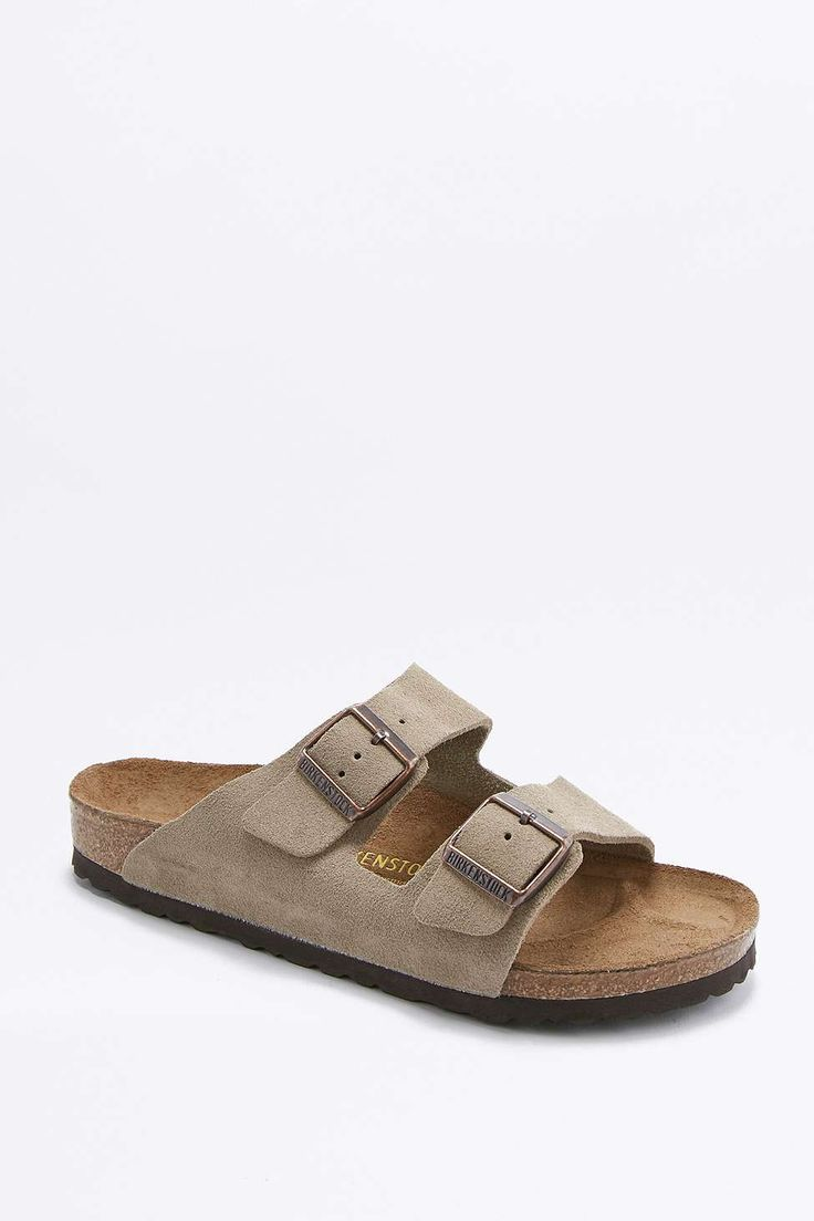 Birkenstock Arizona Taupe Suede Sandals