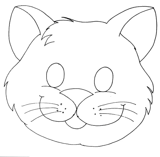 Máscara gato | granja | Pinterest