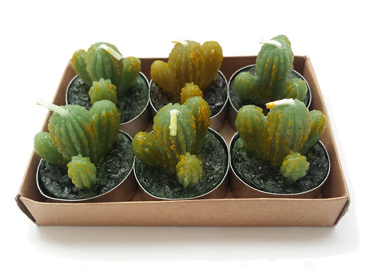 Cactus tealight candles | Qwerky Home