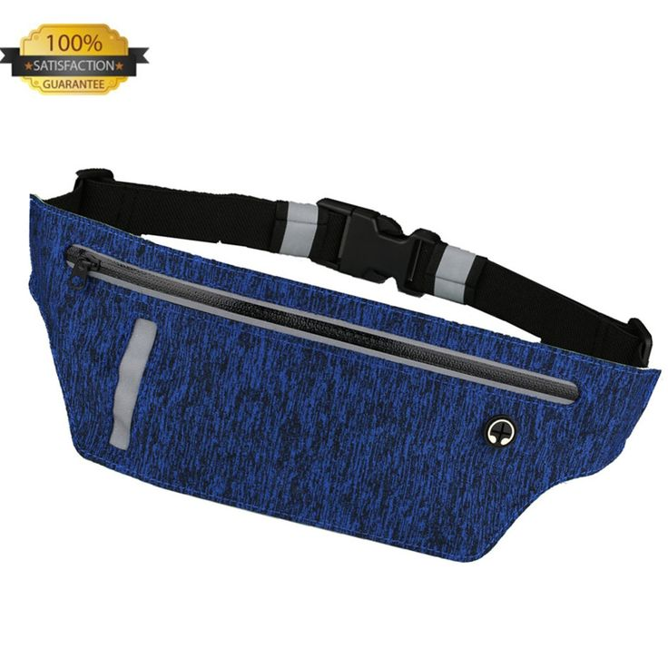 Running Belt Waist Pack - EvaTech Ultra Slim Runners Belt Waterproof Fanny Pack Fitness Belt for Men & Women Cycling,Hiking,Workout, Reflective Running Pouch Fit iPhone,Android,Samsung (Blue). ✔ DURABLE & ULTRA SLIM RUNNING BELT: Made of high quality ultra slim skin-like spandex lycra outside and superior water resistant material inside,perfect for trail running, jogging, taking walks, biking, traveling, Zumba, piloxing, spinning and various workout on machines such as treadmill…